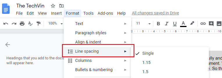 How to Double Space on Google Docs