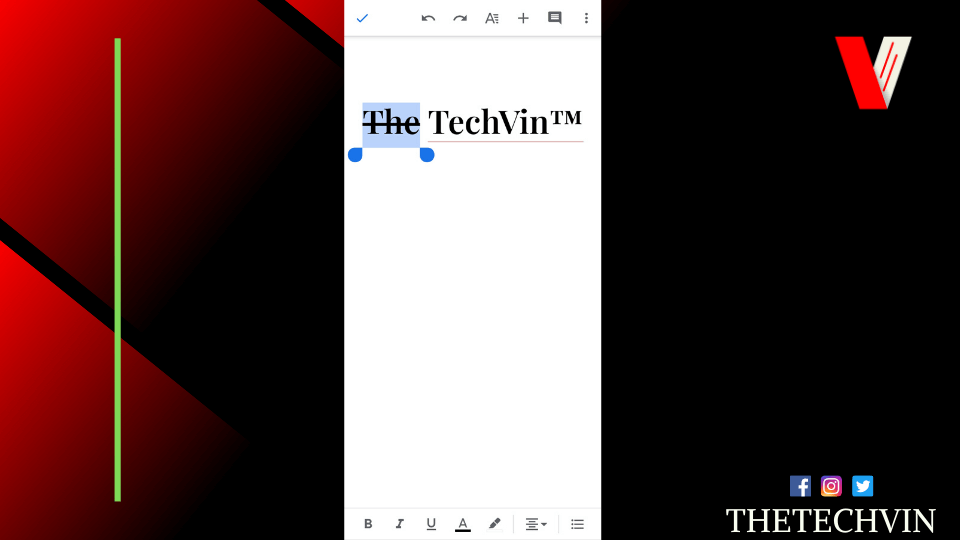 how to put a line through text