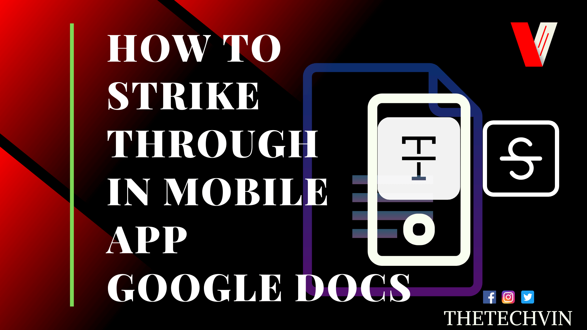 How to Cross Out text in Google docs app