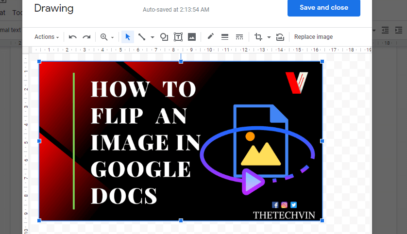 how to flip a picture
