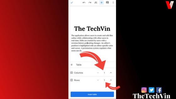 text box on google docs