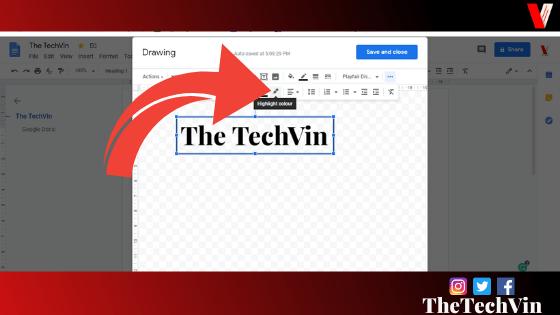 inserting text box in google docs