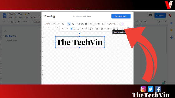 how to put text box in google docs