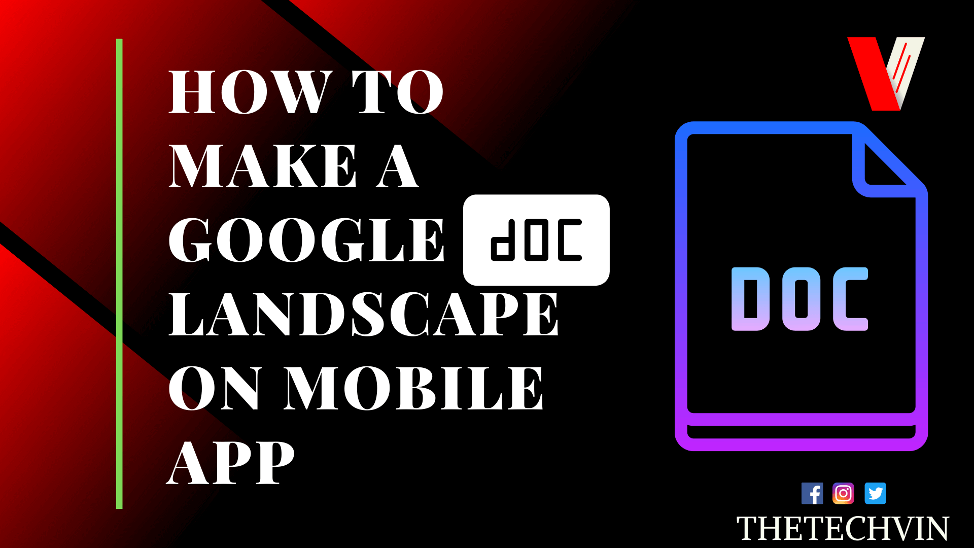 how to change to landscape in google docs