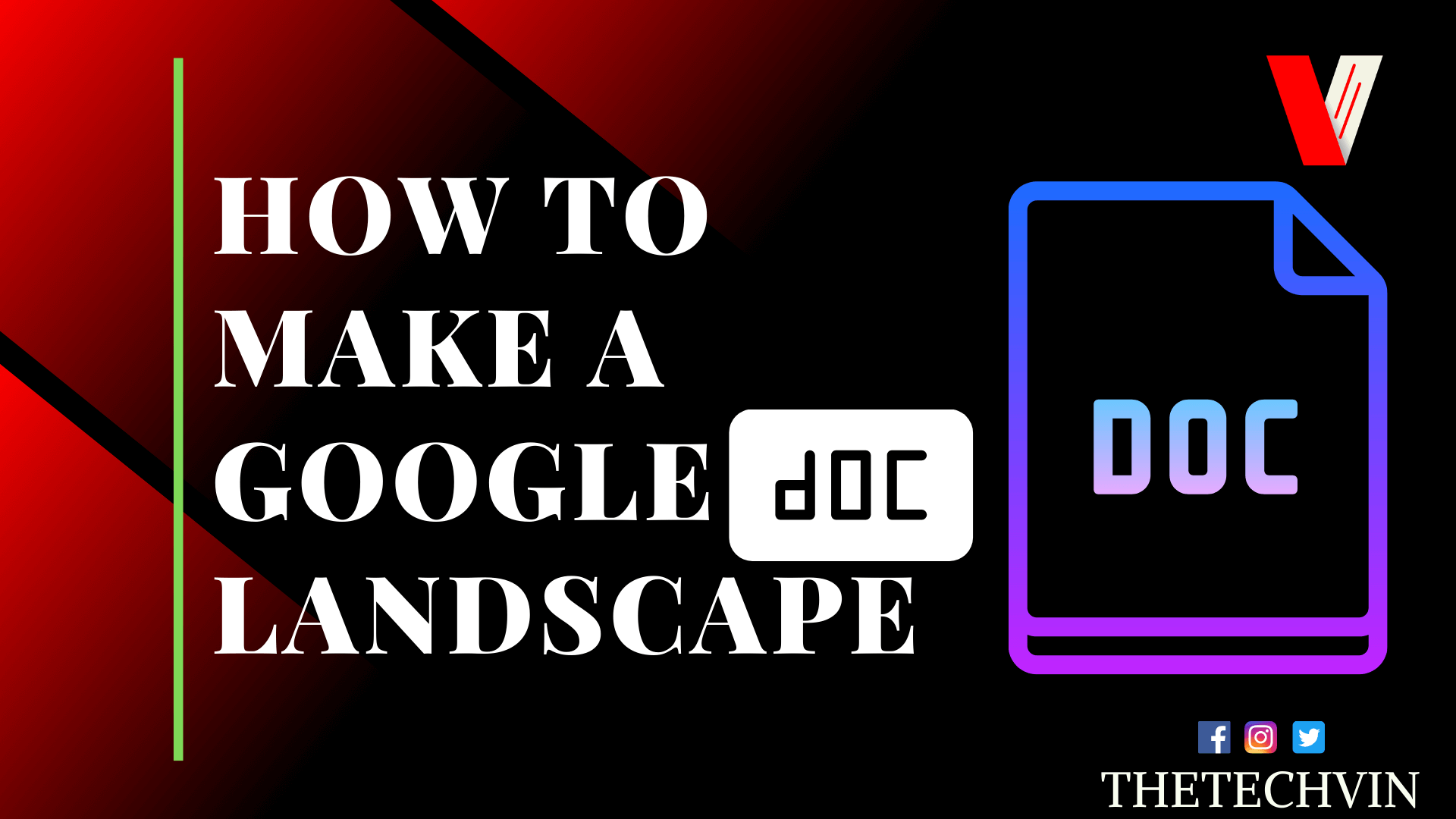 How to Make a Google Doc Landscape