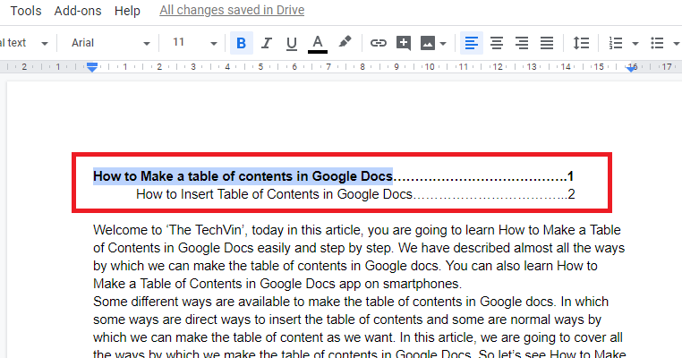 templates in google doc