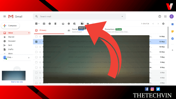 how to move emails to folders in gmail