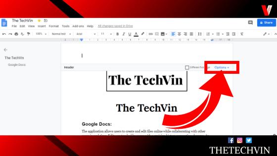 How to Delete Header In Google Docs