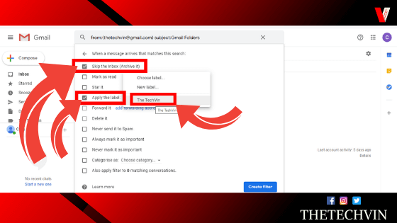 how to create folders in gmail inbox