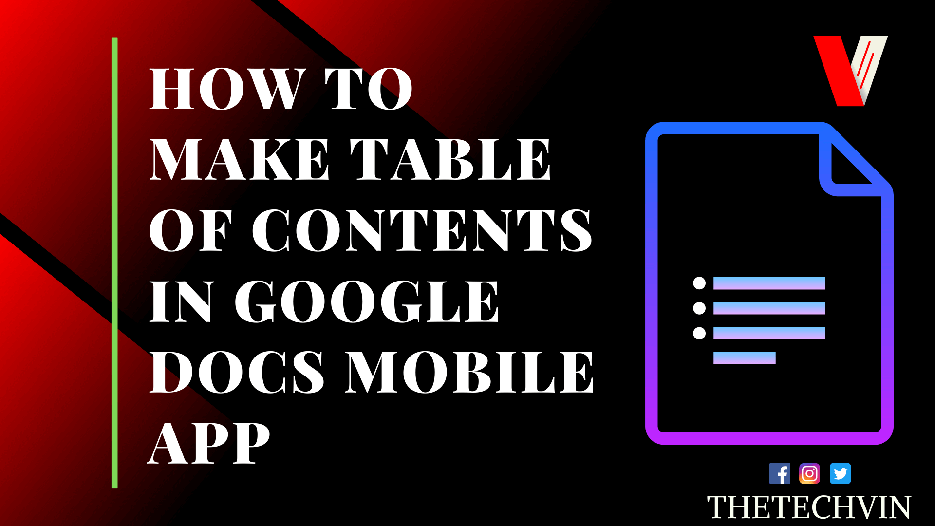 How to Make a Table of Contents in Google Docs app on smartphone
