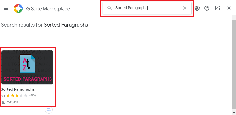 Sorted paragraphs