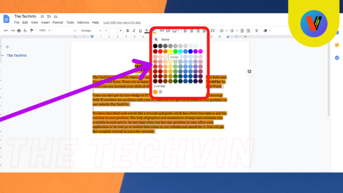 How to Highlight All in google docs