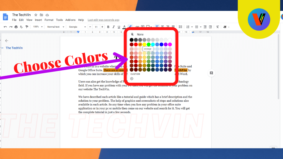 colors to highlight in google docs How to Highlight in Google Docs