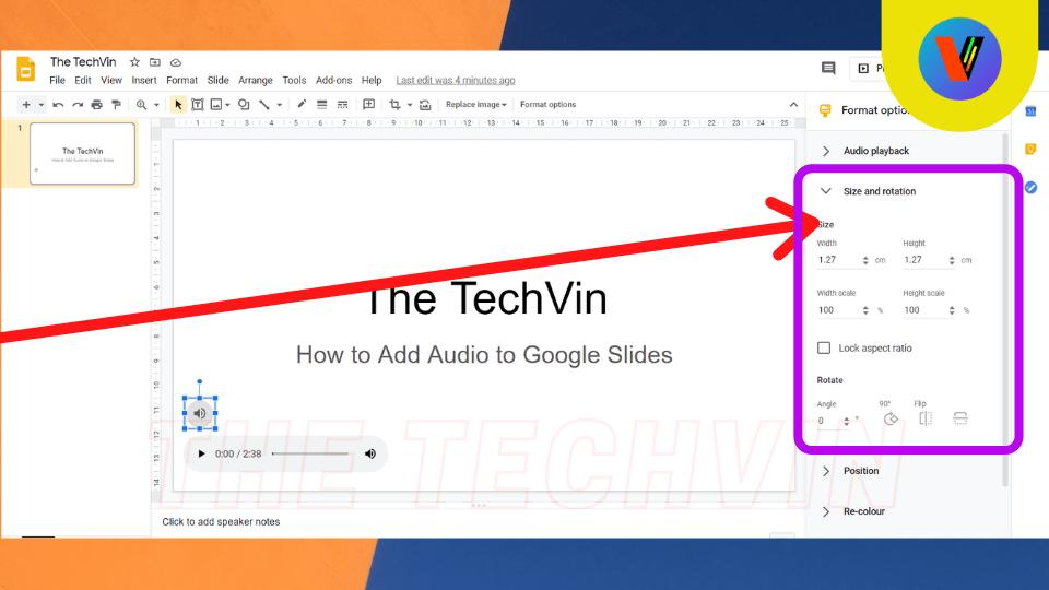 adding audio to google slides