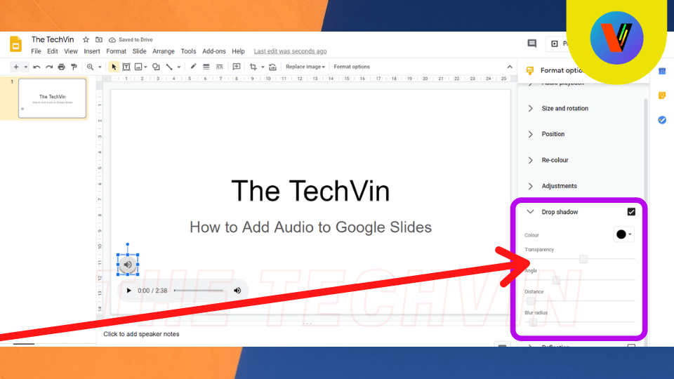 How to embed music to google slides