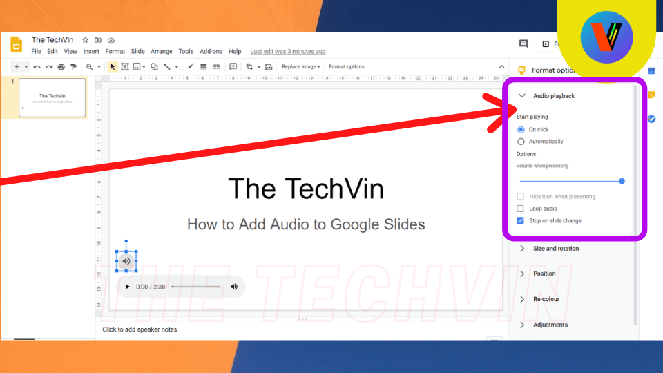 How to Insert an audio file in google docs